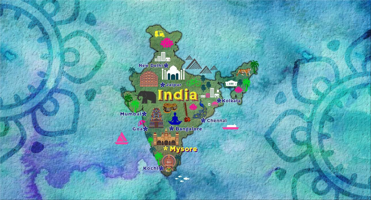 cultutal india map